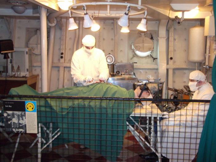 HMS Belfast sick bay