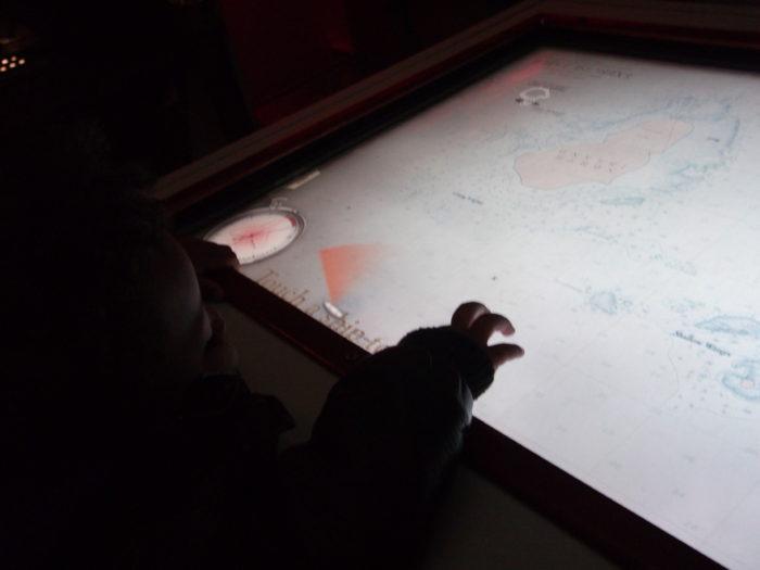 HMS Belfast touch screens