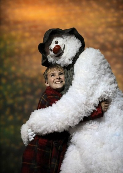 the snowman with boy