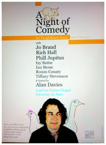Alan Davies presents A Night of Comedy for Freightliners Farm (Hot Ticket!)