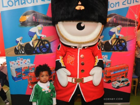 Wenlock with Jed at Hornby Tea Party for 2012 range