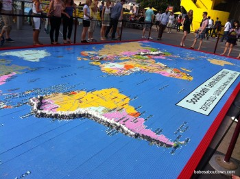 LEGO World Map at South Bank London