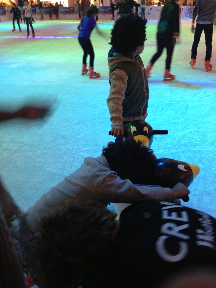Babes Ice Skating at Westfield London