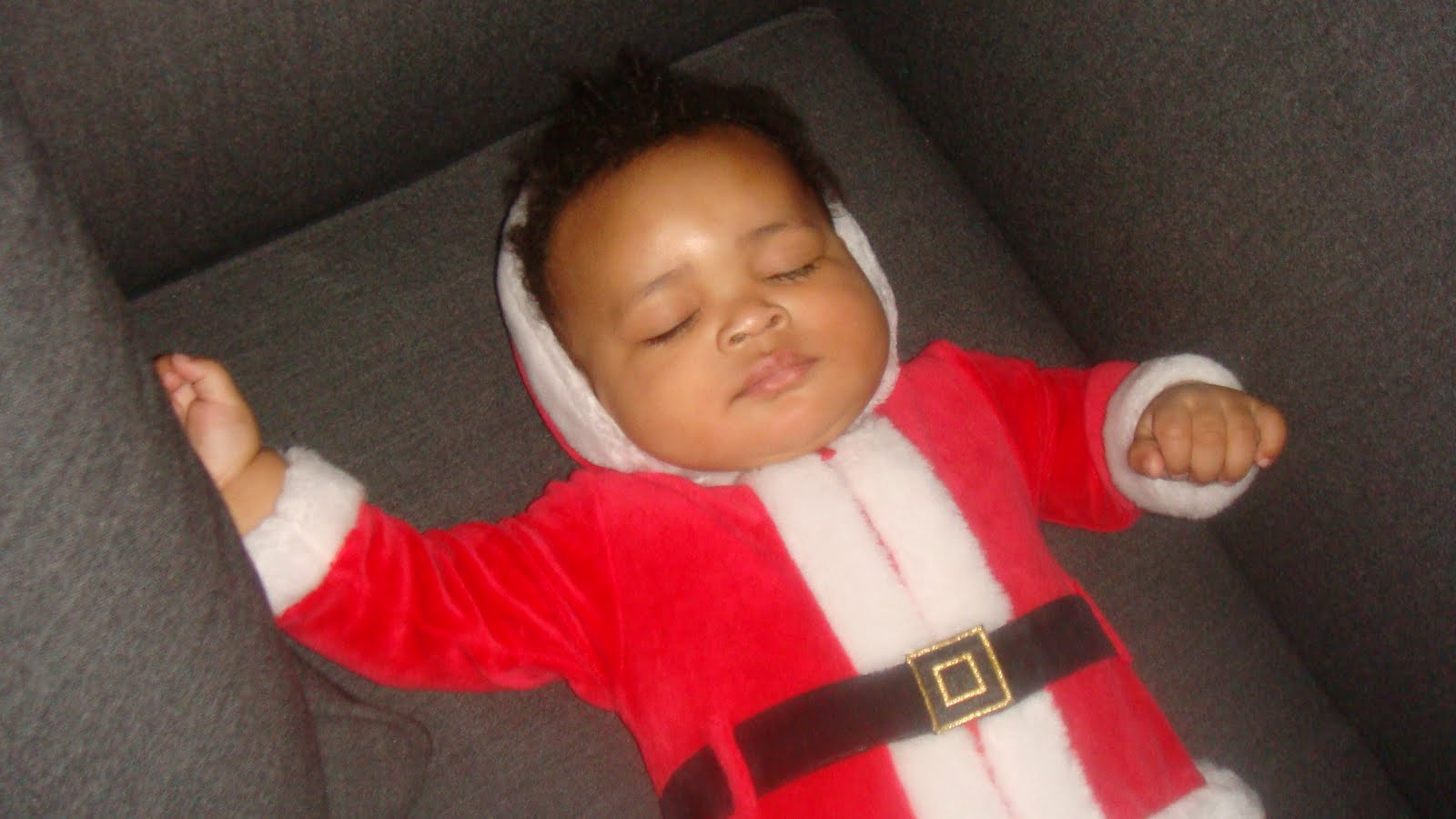 Jed in Santa Suit