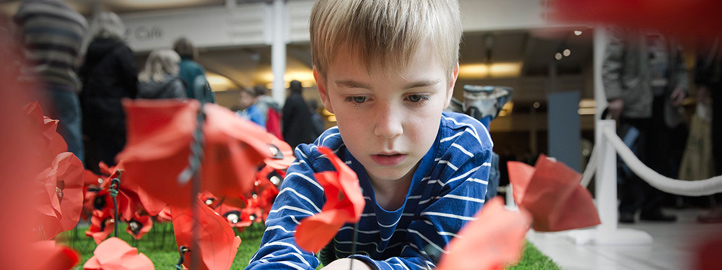 Poppy Making at Imperial War Museum