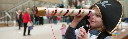 Cutty Sark local residents preview event and 'make a telescope' learning event.