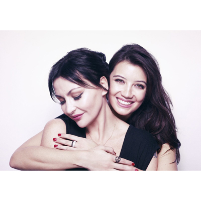 Pearl and Daisy Lowe for Fashion Targets Breast Cancer