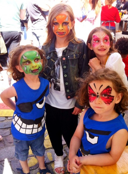 Face painting at street fair
