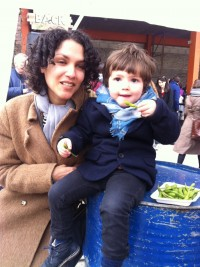 Mum and baby Pamela and Atlas at Street Feast