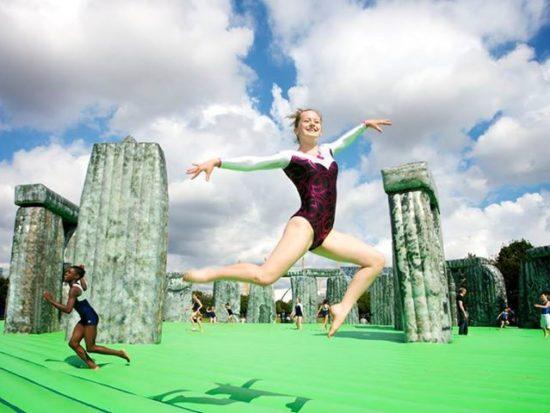Bouncy Stonehenge at Open East Festival
