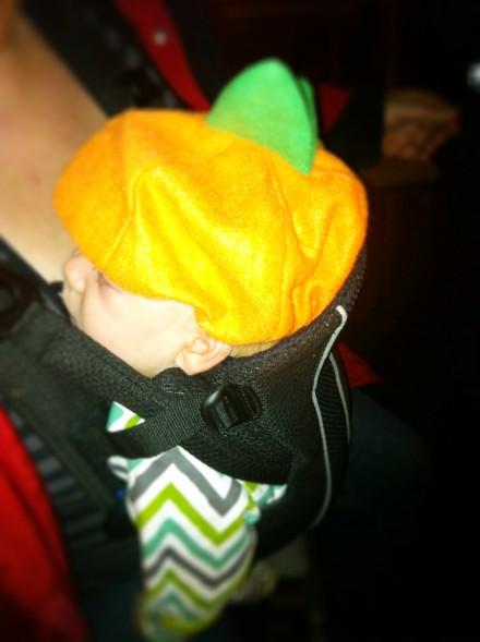 Halloween baby pumpkin