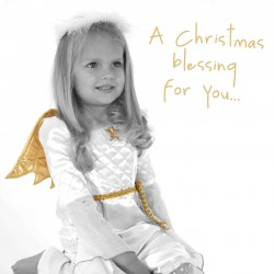 Colorblind Cards Christmas angel