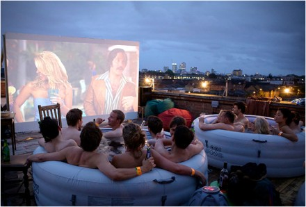 Dates with Dads: Hot Tub Cinema