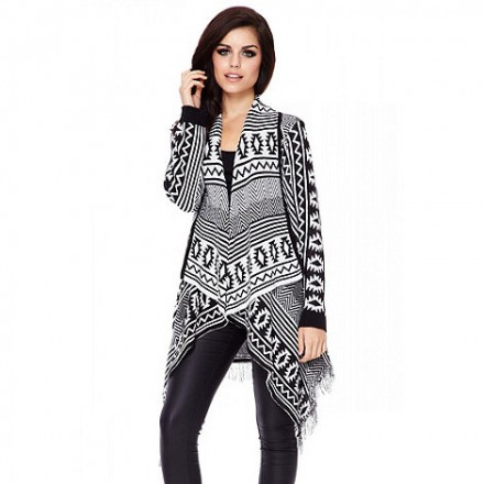Quiz Aztec knit print cardigan at Debenhams