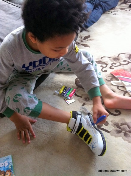 Skribbies customisable hi-tops for kids