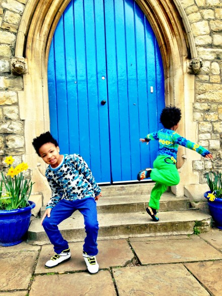 Smafolk boys jumping for joy