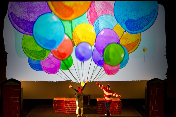 Up and Down Ga Ga Theatre Company balloons