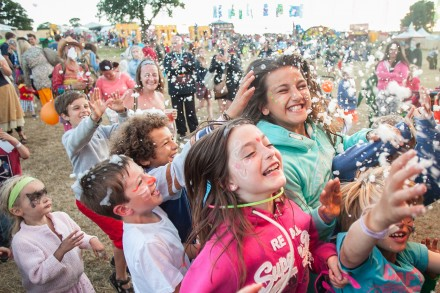 Camp Bestival kids in crowd