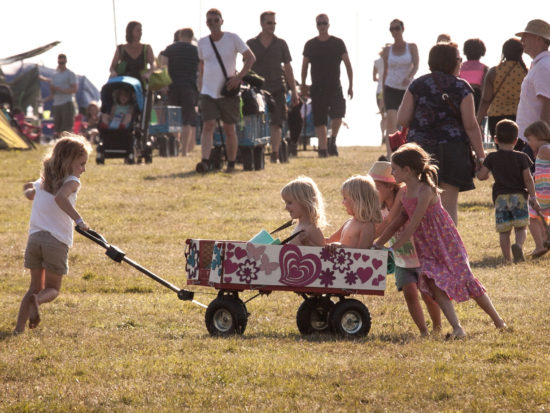 Camp Bestival trolleys