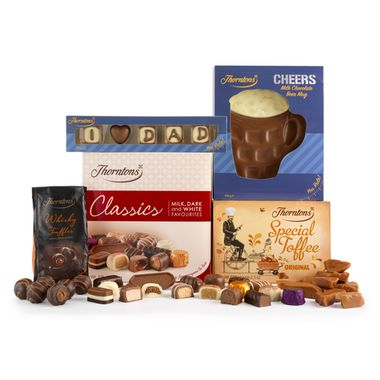 Thorntons chocolate hamper Just for Dad collection