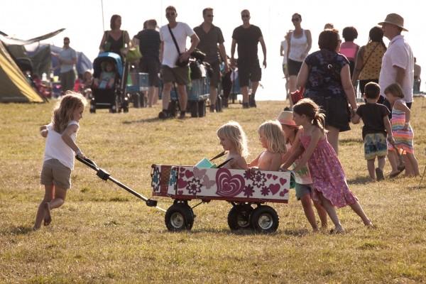 Camp Bestival trolleys