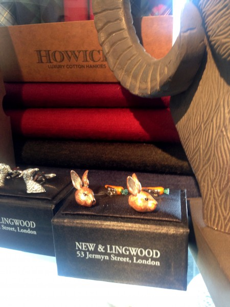 House of Fraser Bunny and Carrot cuff links