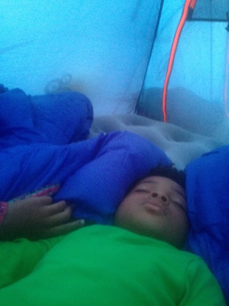 Camp Bestival sleeping