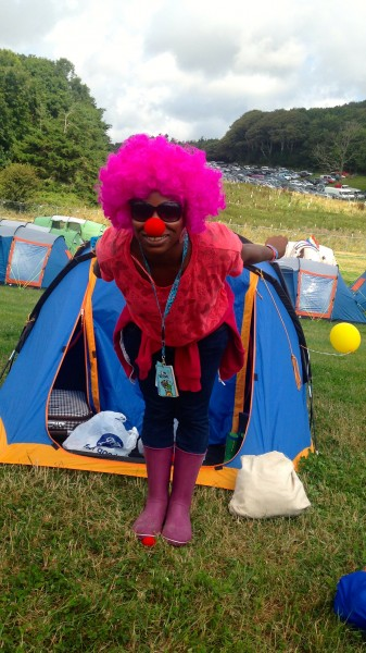 Camp Bestival Circus clown Uju