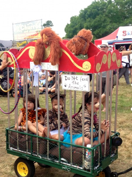 Camp Bestival circus parade