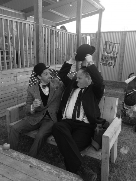 Camp Bestival Laurel and Hardy