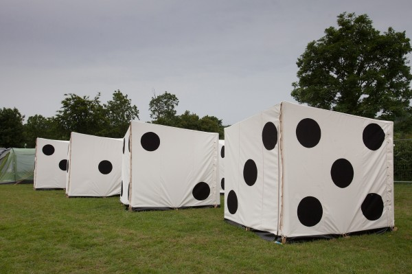 Tangerine Fields dice tents