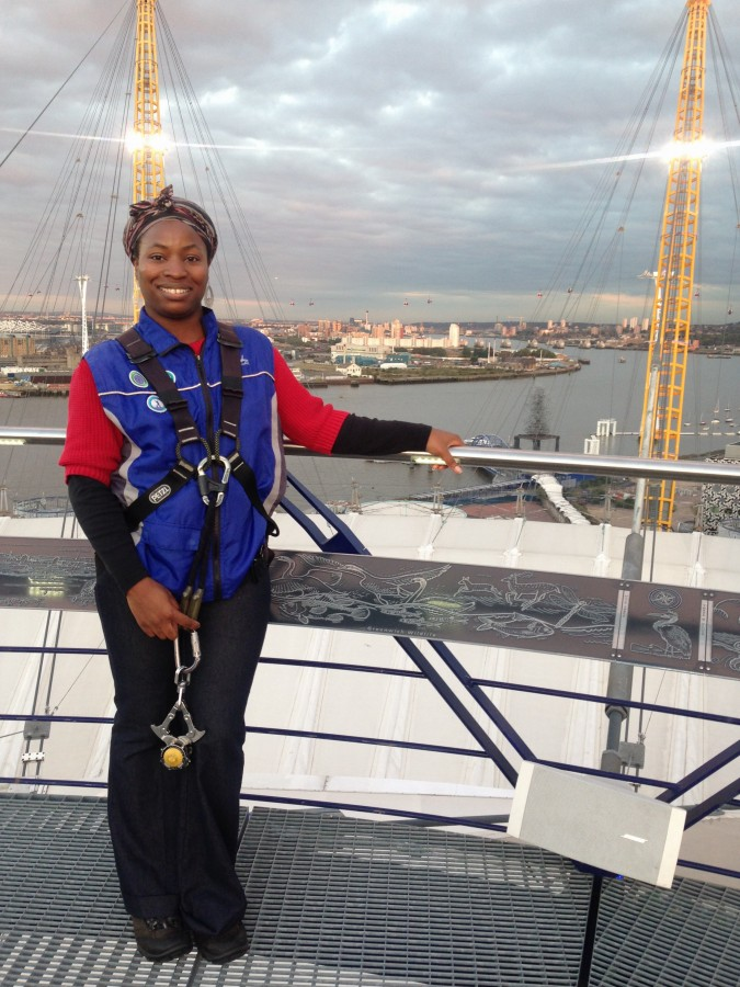 Up at the O2 climb jackets