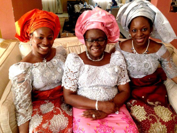 Nigeria Uju with Mum and Nkiru