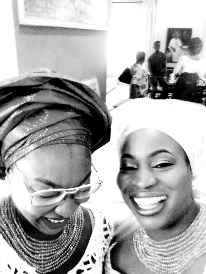 Odu ceremony black and white Uju and Nnenna