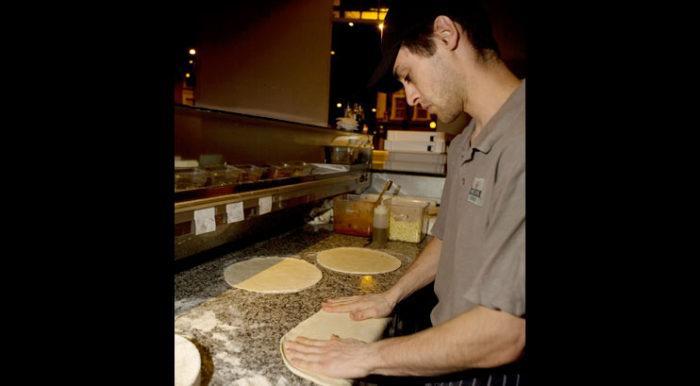 The Regent Pizza making