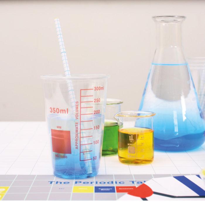 Little Lulubel science party kit tableware