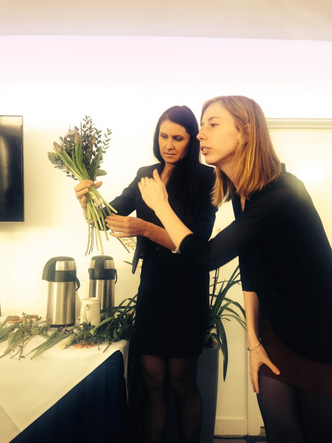 Flower arranging at Moonpig Spring Collection