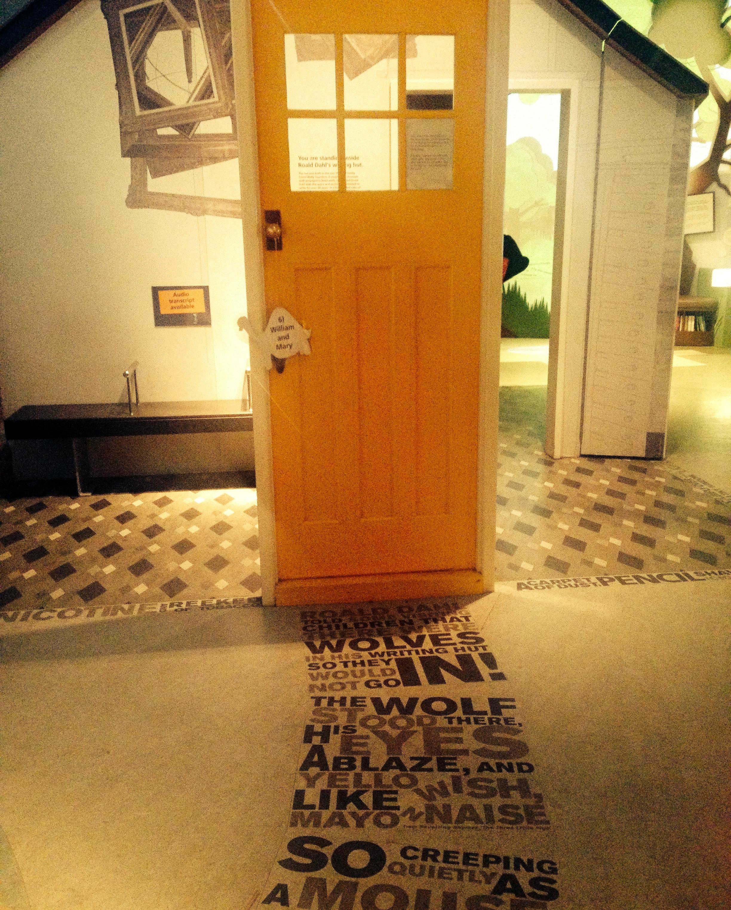 Roald Dahl writing hut door