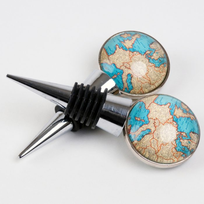 Swanky Maison Vintage Map bottle stopper