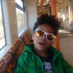 Jed on overground train
