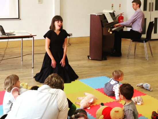 Classical Babies Villa Pia concert with Caroline Kennedy