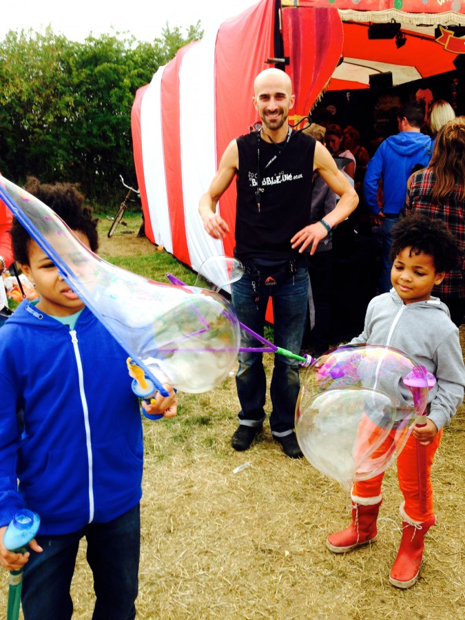 Big Feastival Sam Sam the Bubbleman