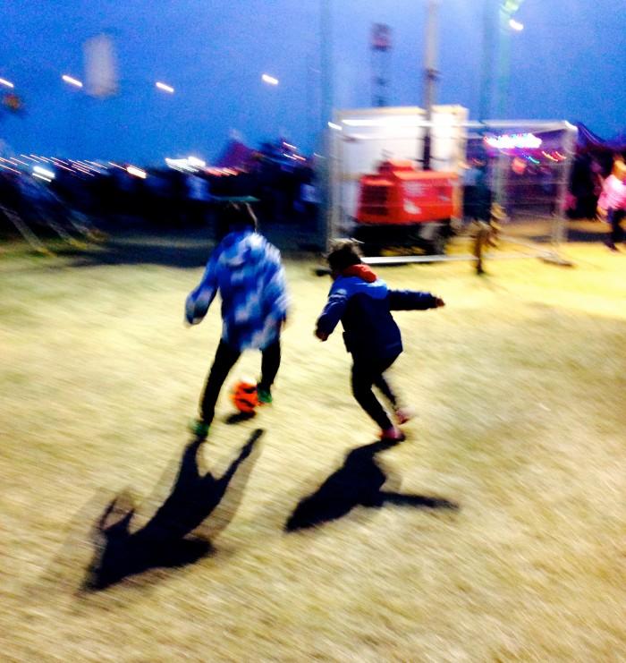 Babes football at On Blackheath 2016 kids