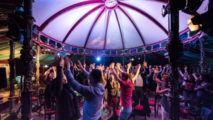 Spiegeltent at Canary Wharf