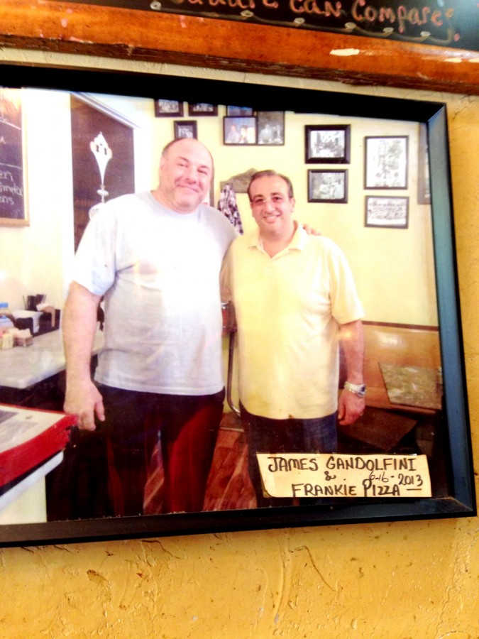 James Gandolfini at Prince St Pizza