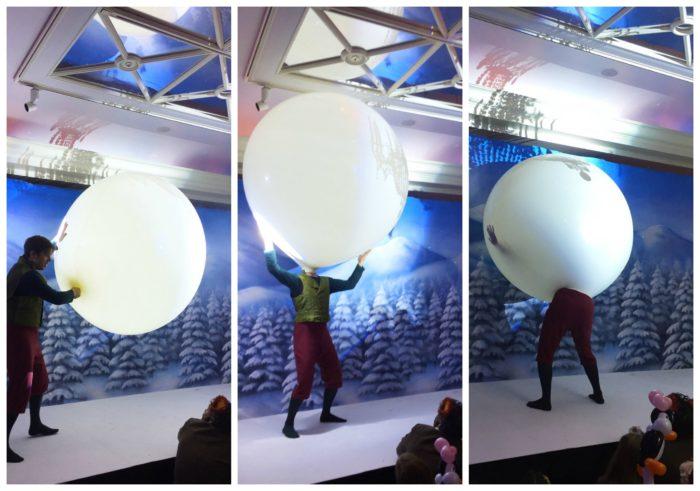 Christmas Spectacular Balloon Man Collage