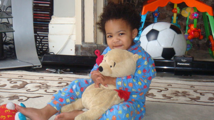 Ezra age 4 with Pooh