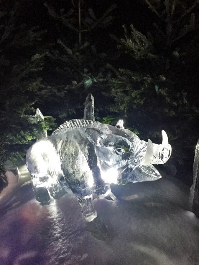 Hyde Park Winter Wonderland Warthog Sculpture