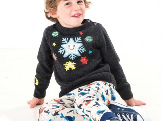 Tootsa MacGinty snowflake jumper