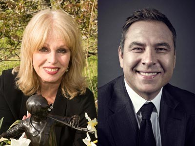 David Walliams and Joanna Lumley